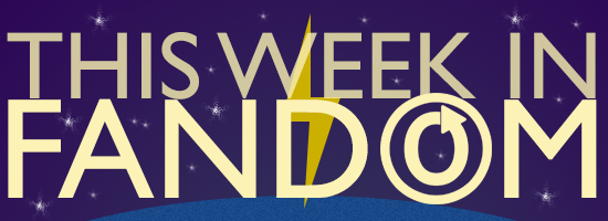 Purple banner with stars that says This Week In Fandom