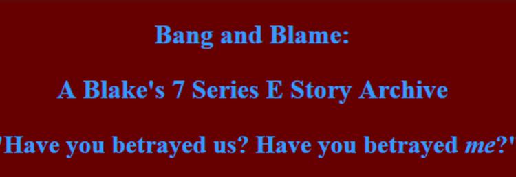 Bang and Blame site banner
