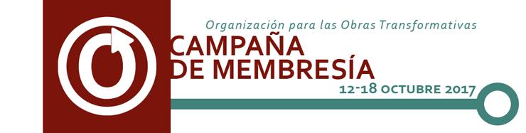Campaña de membresía de la Organización para las Obras Transformativas, del 12 al 18 de octubre de 2017