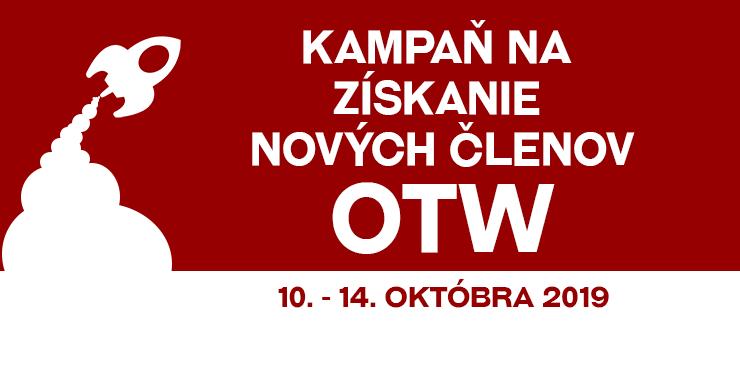 Kampaň za získanie členov Spoločnosti pre transformatívnu tvorbu, 10.–14. október 2019