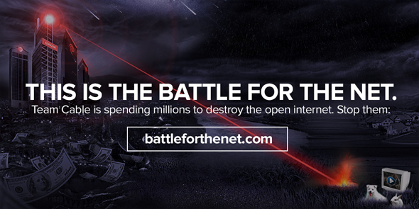 This is the battle for the net.